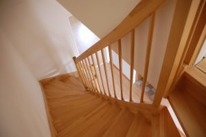 Carpentry example - stairs and bannisters