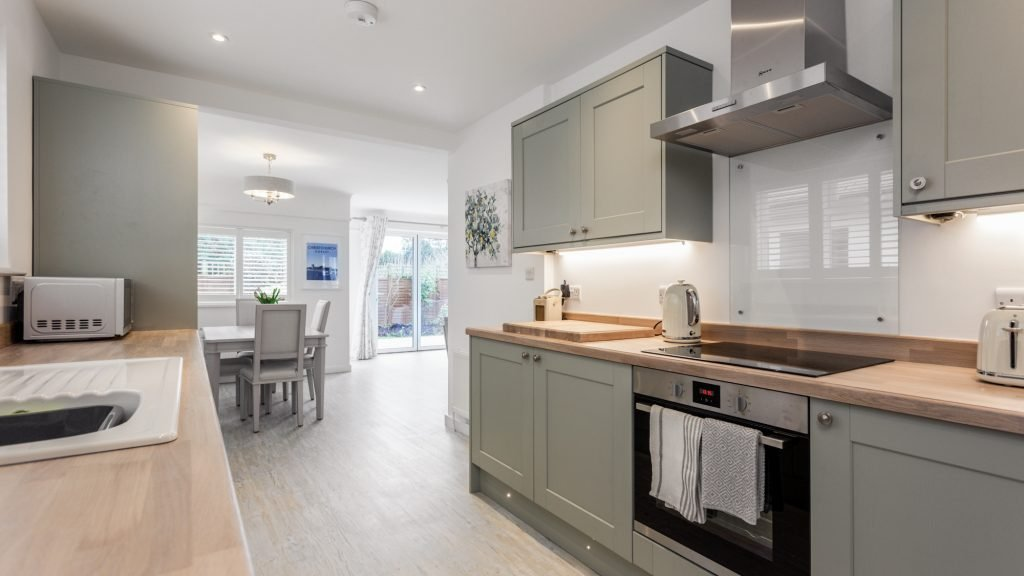 Mudeford Kitchen Showing Living Space